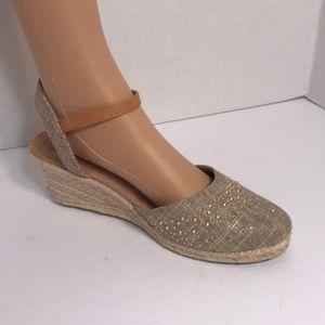 MODELLISTA Women's Shoes Scuba Gold Wedge 8M